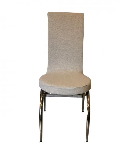 Fransız Kumaş Kelebek Model Gri Sandalye Kılıf...
