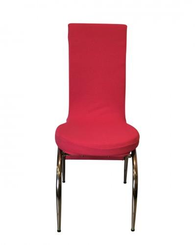 Fransız Kumaş Kelebek Model Fuşya Sandalye Kıl...