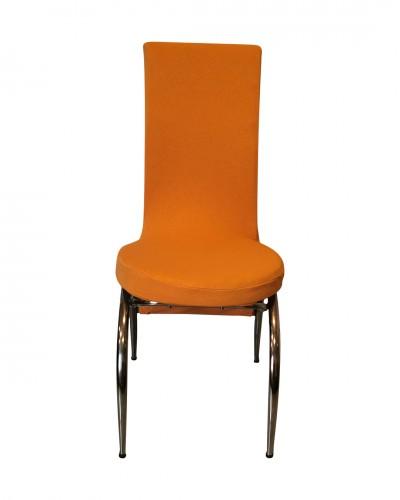 Fransız Kumaş Kelebek Model Hardal Sandalye Kıl...