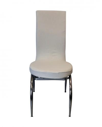 Fransız Kumaş Kelebek Model Beyaz Sandalye Kıl�...