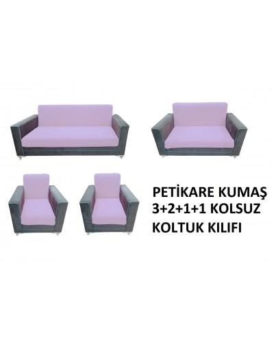 Petikare Kolsuz Koltuk Kılıfı Takımı Gül Kur...