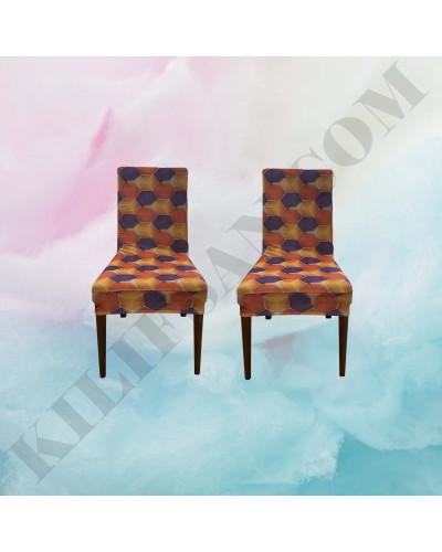 DS-04 Digital Baskı Bal Peteği Streç Kumaş Sandalye Kılıfı