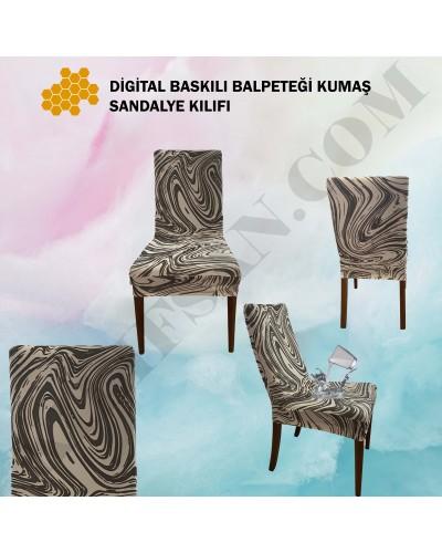 DS-08 Digital Baskı Bal Peteği Streç Kumaş Sandalye Kılıfı