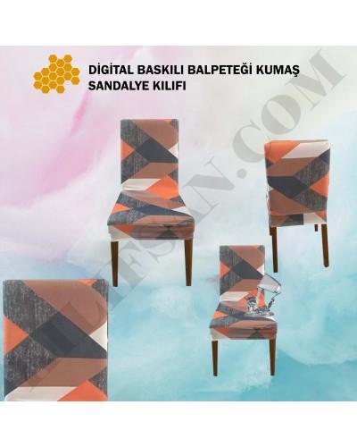 DS-09 Digital Baskı Bal Peteği Streç Kumaş Sandalye Kılıfı