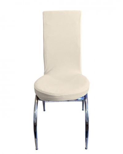 Bal Peteği Kelebek Model Krem Sandalye Kılıfı
