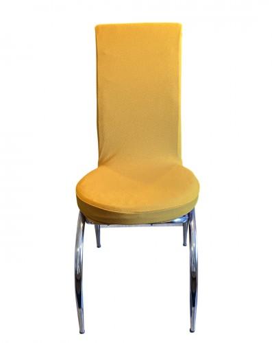 Bal Peteği Kelebek Model Hardal Sandalye Kılıf�...