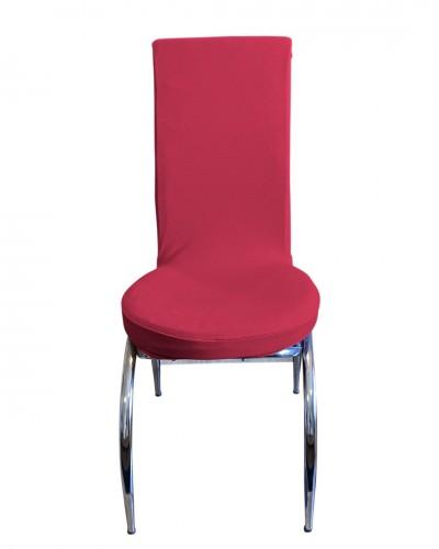 Bal Peteği Kelebek Model Fuşya Sandalye Kılıf�...