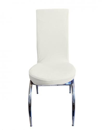 Bal Peteği Kelebek Model Beyaz Sandalye Kılıfı