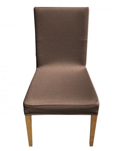 Bal Peteği Kahverengi Sandalye Kılıfı