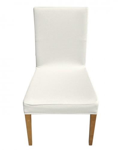 Bal Peteği Beyaz Sandalye Kılıfı