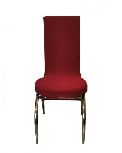 Kadife Kelebek Model Kırmızı Sandalye Kılıfı
