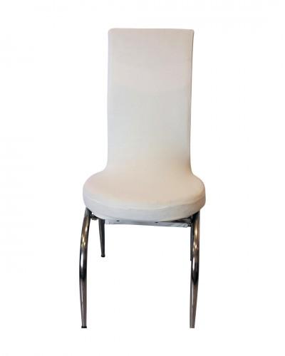 Kadife Kelebek Model Krem Sandalye Kılıfı