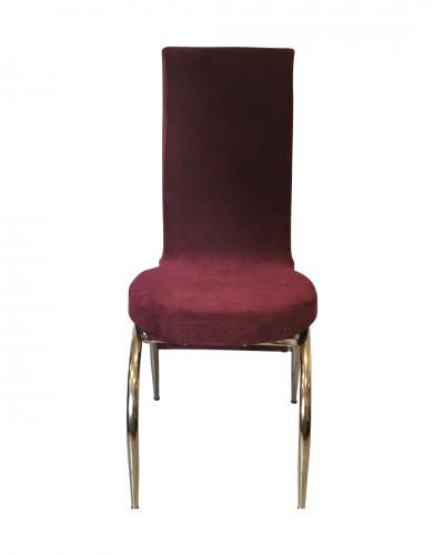 Kadife Kelebek Model Mürdüm Sandalye Kılıfı