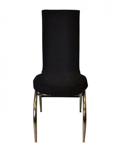 Kadife Kelebek Model Siyah Sandalye Kılıfı