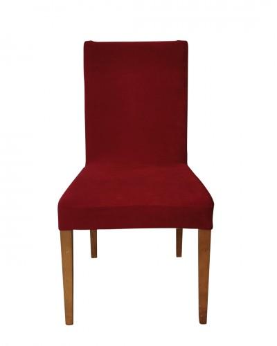 Kadife Kırmızı Sandalye Kılıfı