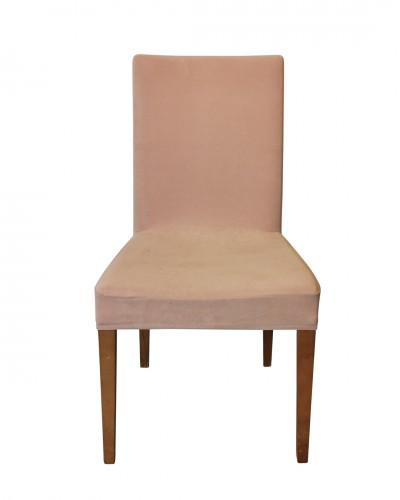 Kadife Pudra Sandalye Kılıfı