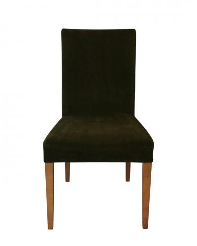Kadife Haki Sandalye Kılıfı