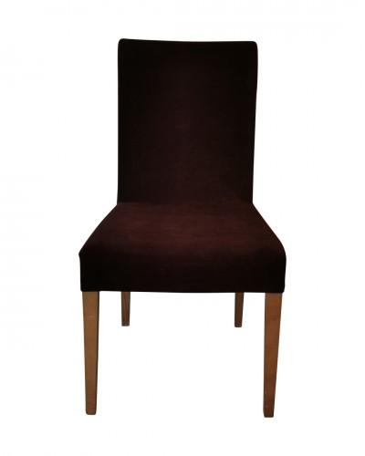 Kadife Kahverengi Sandalye Kılıfı