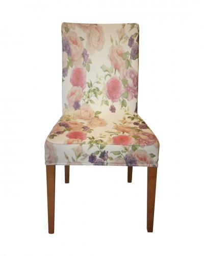 Fransız Pamuklu Çiçek Desenli Sandalye Kılıf�...