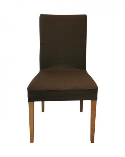 Fransız Pamuklu Kahverengi Sandalye Kılıfı