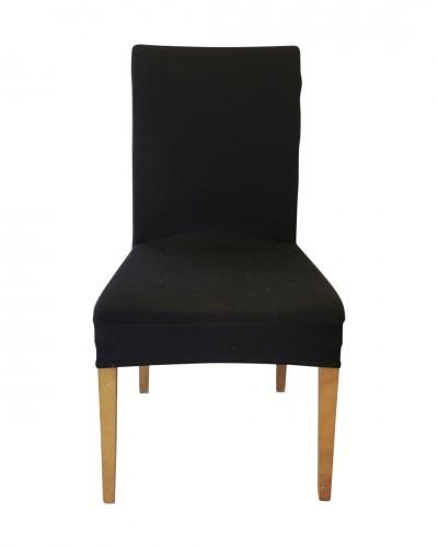 Fransız Pamuklu Füme Sandalye Kılıfı
