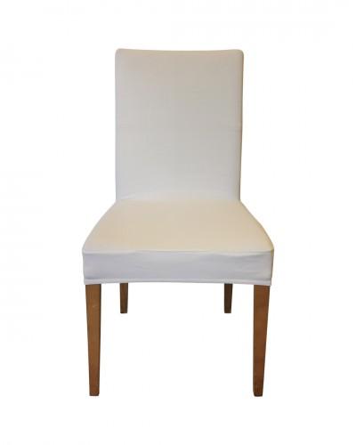 Fransız Pamuklu Beyaz Sandalye Kılıfı