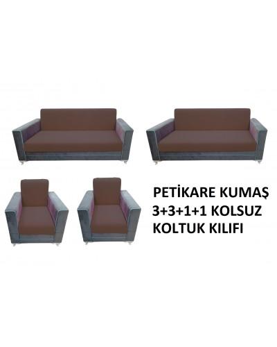 Petikare Kolsuz Koltuk Kılıfı Takımı Kahveren...