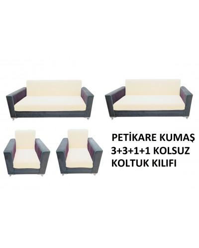 Petikare Kolsuz Koltuk Kılıfı Takımı Kremi ( ...